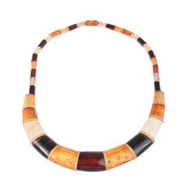 20 Inch Multi Colour Amber Collar Necklace 150 Ct