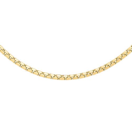 JCK Vegas Collection 9K Y Gold Venetian Box Chain (Size 20), Gold wt. 3.50 Gms.