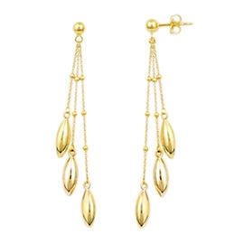 Three Strand Drop Earrings in 9K Gold 2.85 Grams