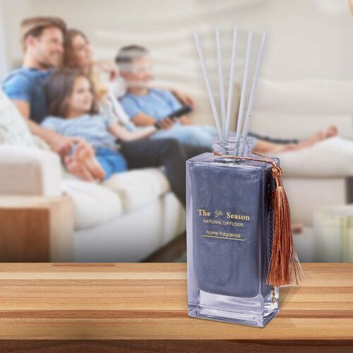 The 5th Season - 150ml Reed Diffuser Air Freshener in Gift Box with Artificial Flower  - Grey (Cold Water Fragrance)