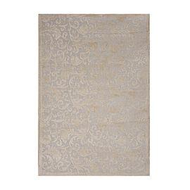 Vivaz Collection - Jaal- Damask Pattern Jacquard Carpet (Size 140x200 Cm) - Ivory