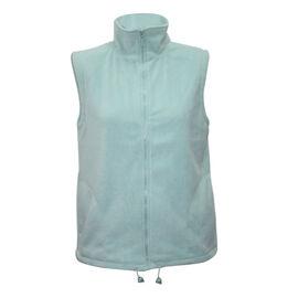 Solid Mint Ladies Gilet Fleece Jacket