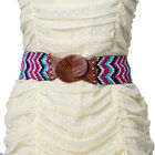 Handmade Stretchable Seed Bead Belt in Wooden Buckle- Multi