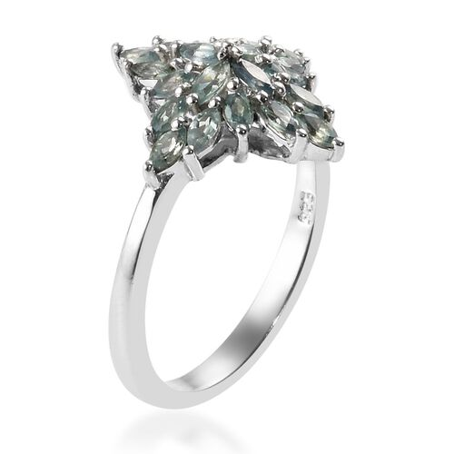 Narsipatnam Alexandrite Cluster Ring in Platinum Overlay Sterling Silver 1.00 Ct.