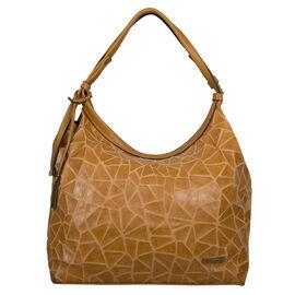 Bulaggi Collection - Cracky Hobo Shoulder Bag with Zipper Closure (Size 34x30x11cm) - Camel