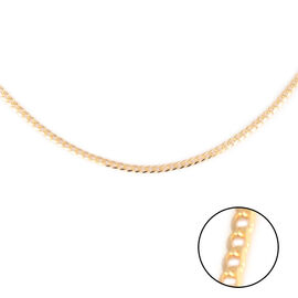 Hatton Garden Close Out- Italian Made- 9K Yellow Gold Flat Curb Necklace (Size 20)