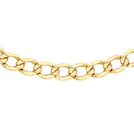9K Yellow Gold Flat Curb Chain (Size 24), Gold wt 8.20 Gms