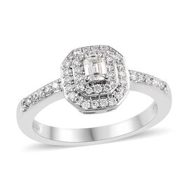 Signature Collection 0.50 Ct Diamond Double Row Halo Ring in 950 Platinum 6.35 grams