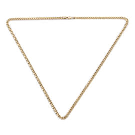 Value Buy- Close Out Deal 9K Yellow Gold Curb Necklace (Size 20), Gold wt 8.15 Gms