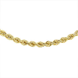 Italian Made 9K Yellow Gold Rope Necklace (Size 28), Gold wt. 6.10 Gms