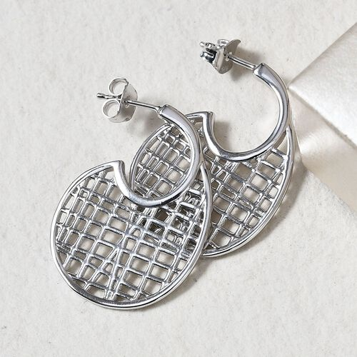 Sundays Child - Platinum Overlay Sterling Silver Earrings (with Push Back)
