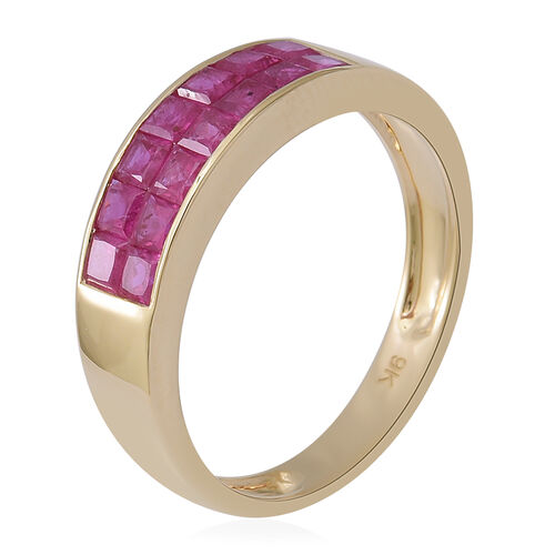 Collectors Edition- 9K Yellow Gold AAA Burmese Ruby Ring 2.00 Ct.