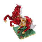 Multi Austrian Crystal Studded Enamelled Horse Trinket Box
