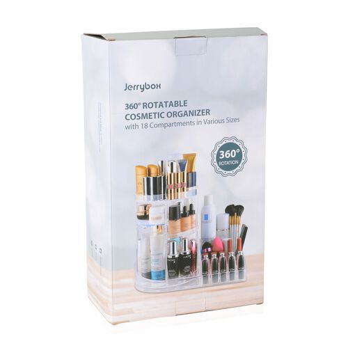 Black Colour 360 Degree Rotating Makeup Organizer (Size 38x30 Cm)