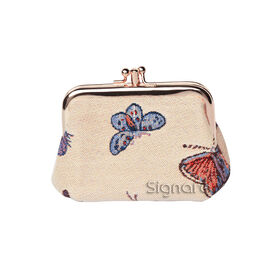 SIGNARE - Tapastry Collection - Butterfly Coin Frame Purse ( 13 x 8 x 5 Cms )