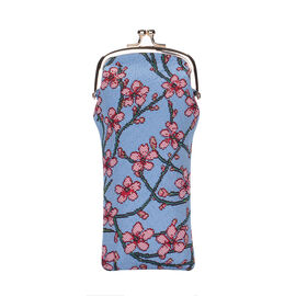 SIGNARE - Tapestry Collection - Blossom and Swallow Glasses Pouch ( 11 x 20 x 1 Cms )