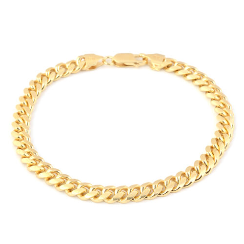 Made in Italy - 14K Gold Overlay Sterling Silver Bracelet (Size 8.5), Silver wt  20.90 Gms