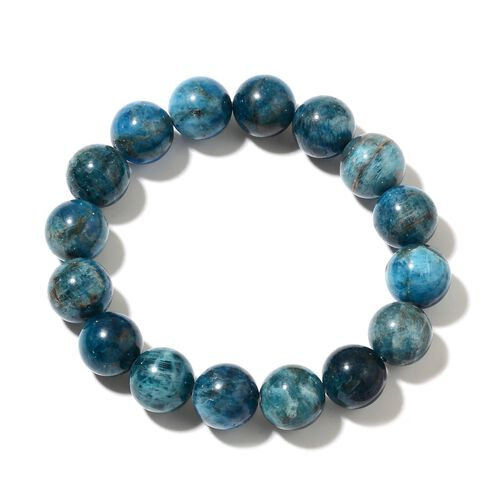 Extremely Rare Paraiba Apatite (Rnd 10-13mm) Stretchable Bracelet (Size 6.25) 228.000 Ct.