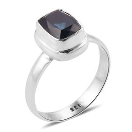 Royal Bali Collection Teal Quartz (Cush) Solitaire Ring in Sterling Silver 2.253 Ct. Silver wt 4.25 Gms.