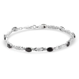 Elite Shungite Bracelet (Size 7) in Sterling Silver 2.50 Ct.