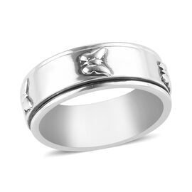 Sterling Silver Butterfly Stackable Ring