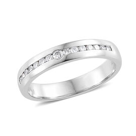 RHAPSODY 950 Platinum IGI Certified Diamond (Rnd) (VS/E-F) Band Ring 0.280 Ct., Platinum wt 5.80 Gms.