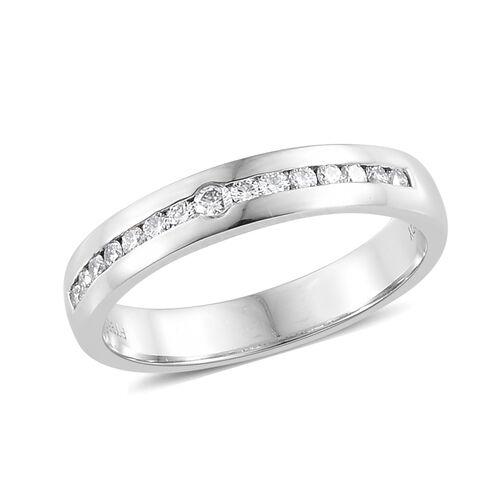 RHAPSODY 950 Platinum IGI Certified Diamond (Rnd) (VS/E-F) Band Ring 0.280 Ct., Platinum wt 5.80 Gms