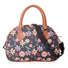 Water Resistant Daisy Pattern Tote Bag with Removable Shoulder Strap (34.5x23x13.5 Cm)
