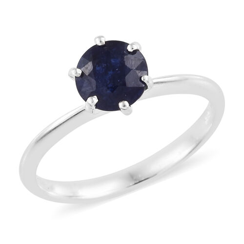 One Time Deal- Masoala Sapphire (Rnd) Solitaire Ring in Sterling Silver 1.250 Ct.