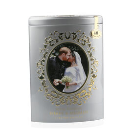 AHMAD TEA Harry and Meghan Wedding Tea Tin - Silver