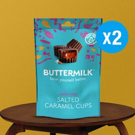 Buttermilk 2 x 100g Dairy Free Salted Caramel Cups