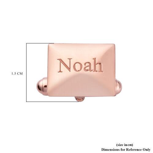 Personalise Engraved Men Envelope Shaped  Cufflinks in Silver