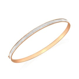 9K Rose Gold Stardust Bangle (Size 7.5), Gold wt 2.30 Gms