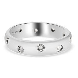 Diamond Band Ring in Platinum Over Sterling Silver