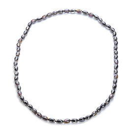 Simulated Black Crystal Necklace (Size 30)