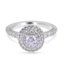 NY Close Out 14K White and Rose Gold Diamond (SI1-G-H) (40 Pointer Solitaire) Ring 1.00 Ct.