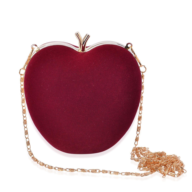 apple shape gold clutch bag uk