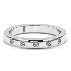 RHAPSODY 950 Platinum IGI CERTIFIED Diamond (VS / E-F) Band Ring,Platinum wt. 5.21 Gms