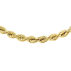9K Yellow Gold Rope Chain (Size 30) with Spring Clasp, Gold Wt. 10.20 Gms
