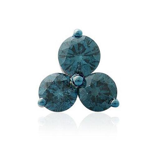 1.50 Ct Blue Diamond SGL Certified (I3/G-H) Trilogy Pendant in 9K White Gold