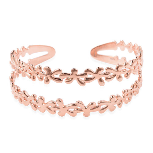 LucyQ - Splash Cuff Bangle (Size 7.5) in Rose Gold Overlay Sterling Silver