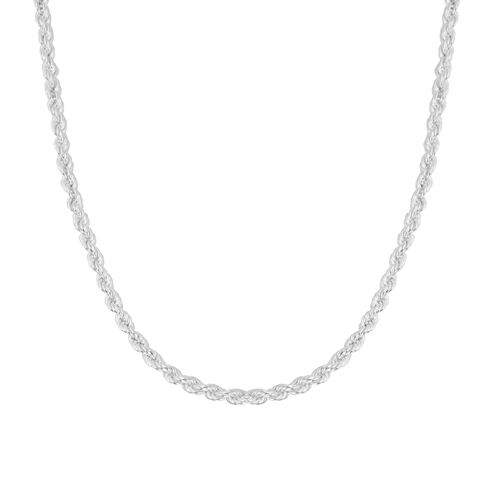Italian Made Sterling Silver Rope Necklace(Size 24), Silver wt 11.50 Gms