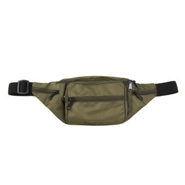 Thomas Calvi - Unisex Multi-Compartment Waist Bag - Khaki Green