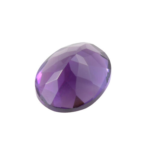 AAA African Amethyst Oval 10.02x8.05x5.36 Faceted 1.95 Cts