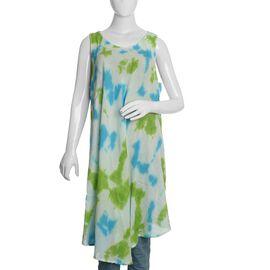 Green and Blue Colour Umbrella Dress (Size 116x132 Cm)