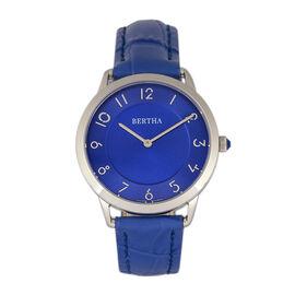 Bertha Abby Women's Watch in Blue Genuine Leather Strap