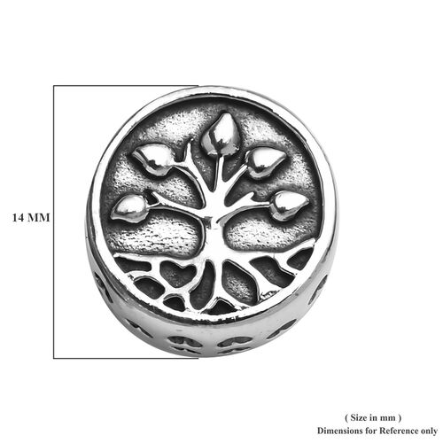 Charmes De Memoire Platinum Overlay Sterling Silver Tree of life Charm, Silver wt 3.35 Gms