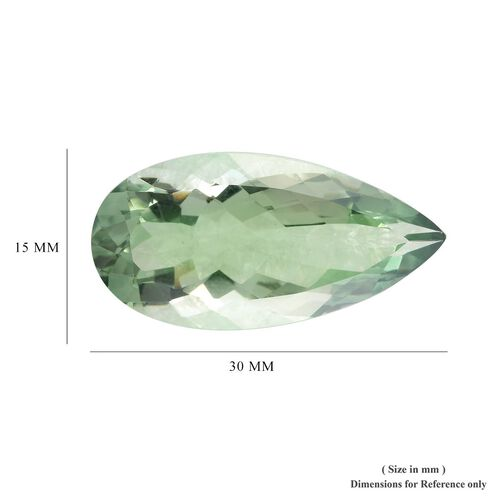 AAA Prasiolite Pear 30x15 Faceted 23.50 Cts