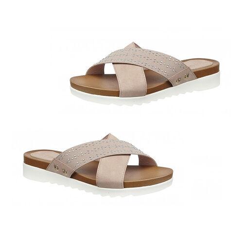 Lotus Pink Sharon Flat Mule Sandals (Size 3)