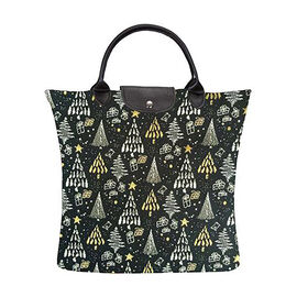 SIGNARE-Tapestry Collection - Xmas Tree Foldable Large Tote Bag (36 x 36 Cms)